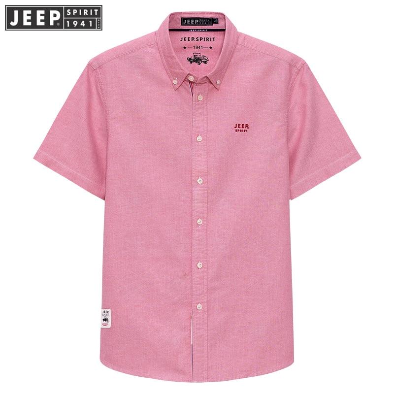JEEP SPIRIT Férfi rövid ujjú póló Nyári Új Üzleti Casual Loose Shirt ... bda4b51a8d