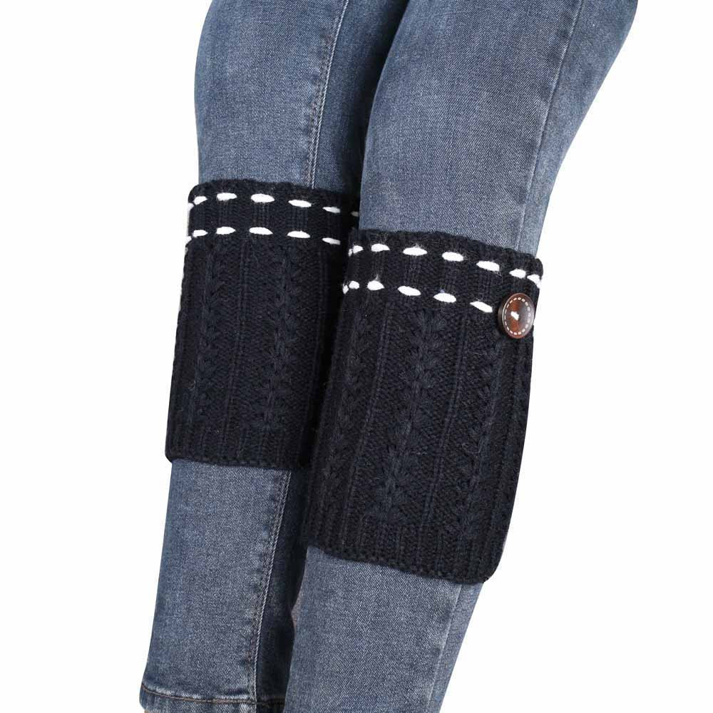 1 Pair Women Fashion Winter Stretch Acrylic Fibers Knitted Leg Warmers Socks Boot Cover &Wholesale