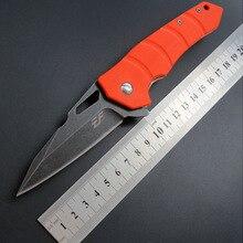 Складной нож D2 стальной нож+ G10 ручка Открытый Отдых Охота фрукты нож, инструмент для повседневного использования, нож для выживания тактический карманный нож