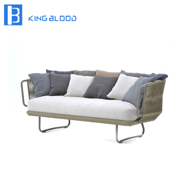 All Handmade Outdoor Woven Furniture Rope Sofa For Garden