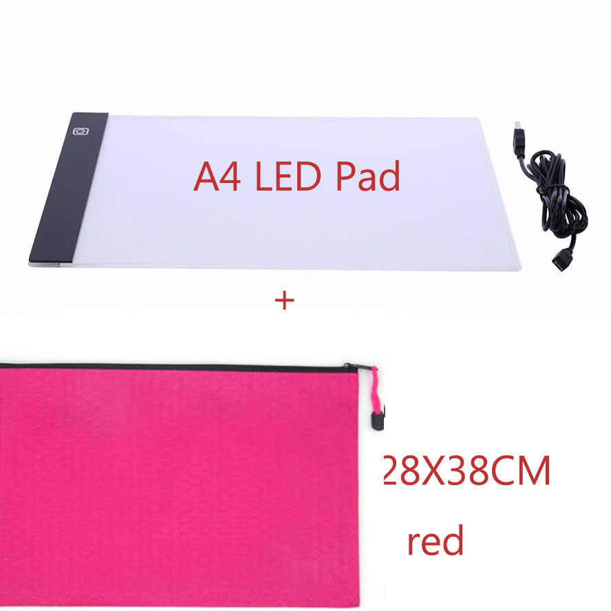Diamond Painting Accessories Hand zipper Bag for a4 LED lightpad Container Storage Box Diamant Painting Holder tools