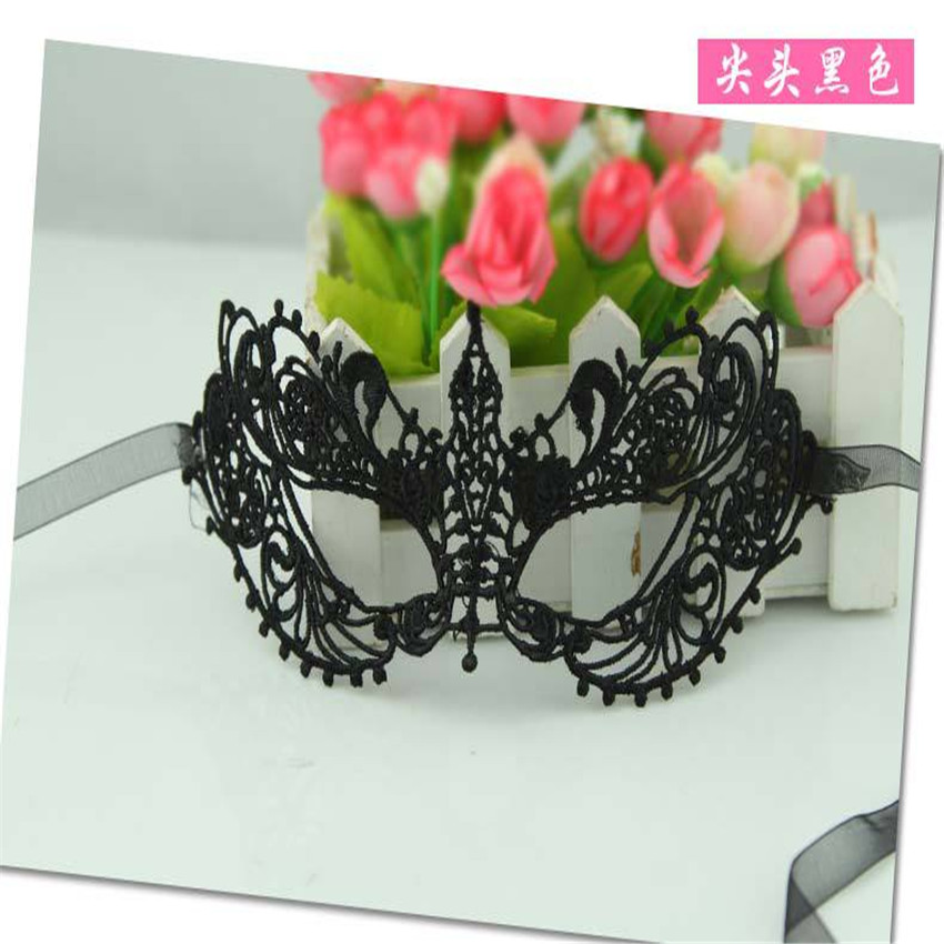 hot sales 2pcs black sexy lady lace mask cutout eye mask for masquerade party fancy dress costume halloween decorations 5zsh027