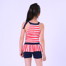 Swimming Clothes For Children Girl One Piece Swinsuit Striped Polyester Swimming Bathing Suits Baby Girls Swimwear Kids Bodysuit
