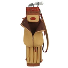 Tourbon Vintage Premium Canvas Pencil Style Golf Club Bag Carrier custodia in pelle Golf Gun Club borse custodia 90CM