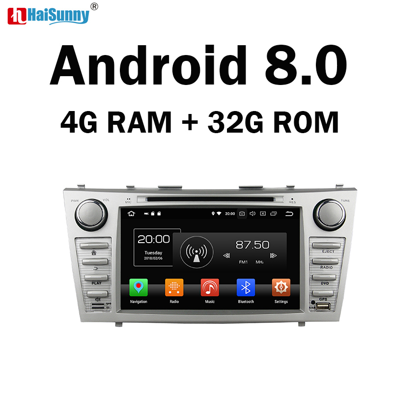 HaiSunny 4GB RAM Octa Core Android 8.0 Car DVD GPS Multimedia Player Stereo For Toyota Camry 2006 2007 2008 2009 2010 2011 Radio цена