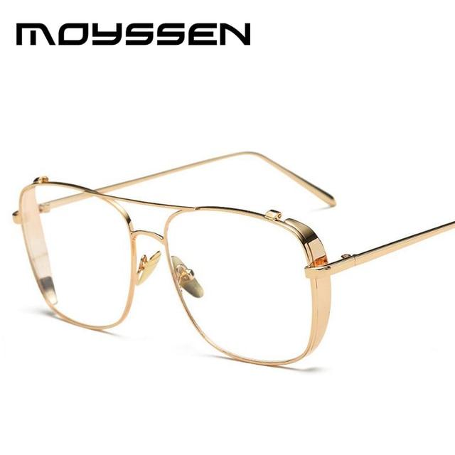 6642cda0fd0095 Moyssen 2018 Marque De Mode Designer Hommes En Métal Cadre Carré lunettes  de Soleil Femmes Vintage