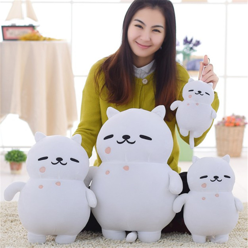 4 Size Hot Game Neko Atsume Plush Toys Cute Cat lovely Cosplay Cartoon Stuffed Doll Kids child birthday party Gift free shipping