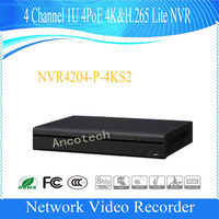 Free Shipping Dahua 4Ch 1U 4PoE 4K H 265 Lite Network Video Recorde English Version NVR