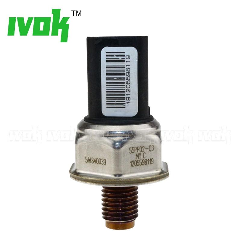 Original Fuel Pressure Sensor 5WS40039 55PP02-03 For Ford Focus C-Max S-MAX Galaxy Mondeo Transit Tourneo 1.8 TDCi