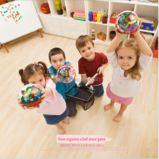 299 steps 3D magical intellect maze IQ balance ball logic ability perplexus magnetic toys,training tools smart challenge game