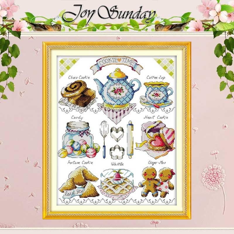 Patrones de pastel de té contados punto de cruz 11CT 14CT conjunto ...