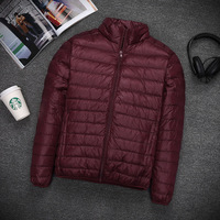 Plus Size Ultra Thin Lightweight White Duck Down Jackets Men Down Coats For Autumn MOVAU0168