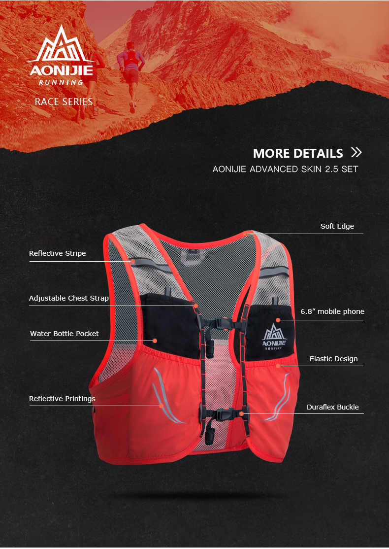 Lightweight Hydration Pack Backpack Bag Vest Harness with Water Bladder