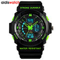 Men's Fashion Sports Watch Waterproof  LED Dual Display Multifunction Electronic Eatches  Outdoors Quartz Wristwatch