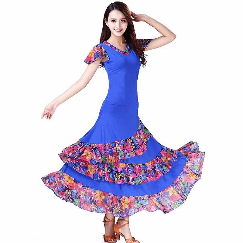 ballroom dance dress standard dance costume for lady competition waltz dress tango dancing wear grils trot dancewear L-XXL (5)