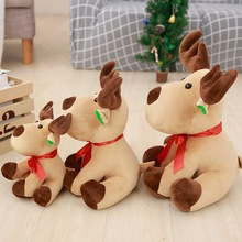 Lovely Elk Doll Christmas Decoration Elk Decent Ornaments Large 25/35/45cm Gift for kids