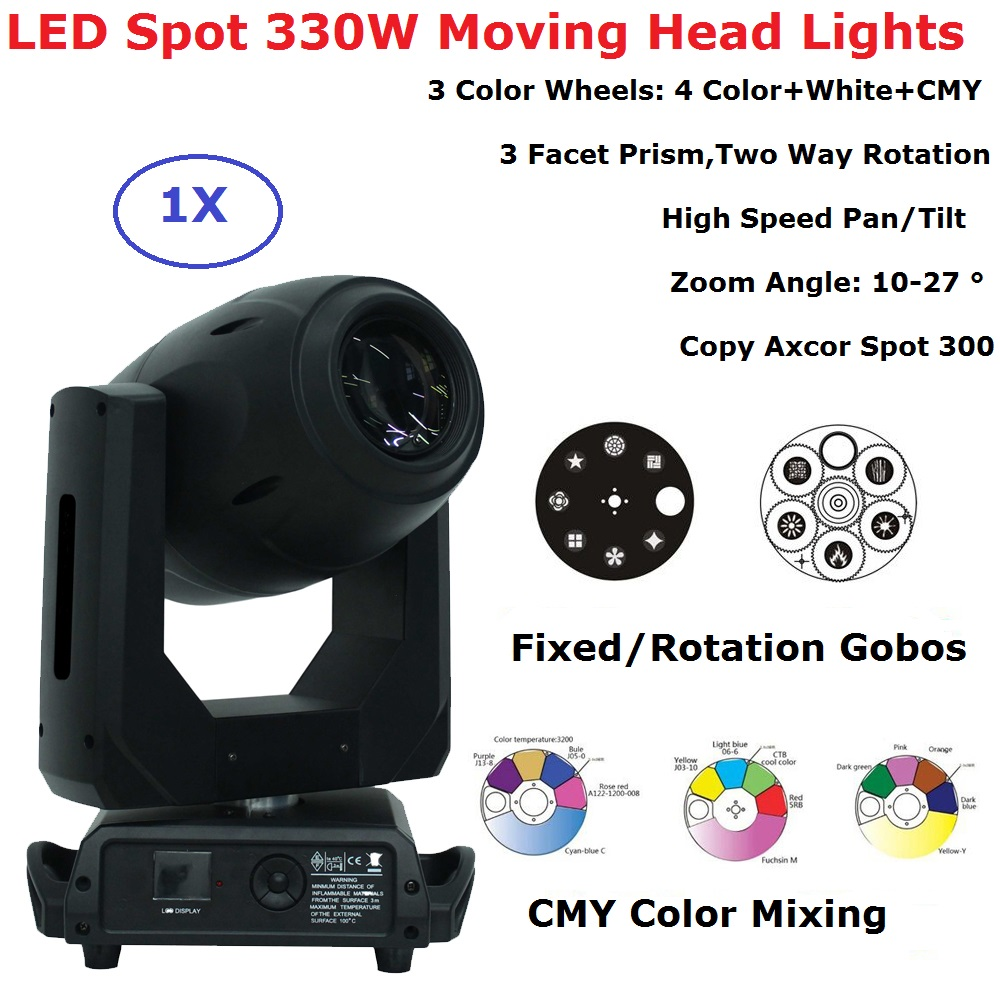 ClayPaky 330W LED Lyre Moving Head Lights Beam Spot Zoom Lights Party Dj Professional Stage Lighting Shows Equipments With CMY
