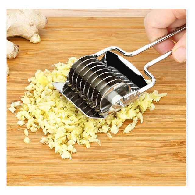 1 pièces couteau inox coupe oignons pour déchiquetage couteau haché oignon vert et légumes râpe accessoires de cuisine outils