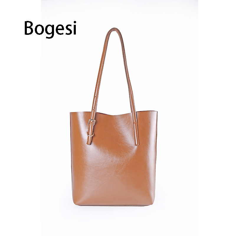 Bogesi New 2018 PU Leather Women Female Shoulder Bag Fashion Soft Women High-Capacity Handbags Large Ladies Tote Bag