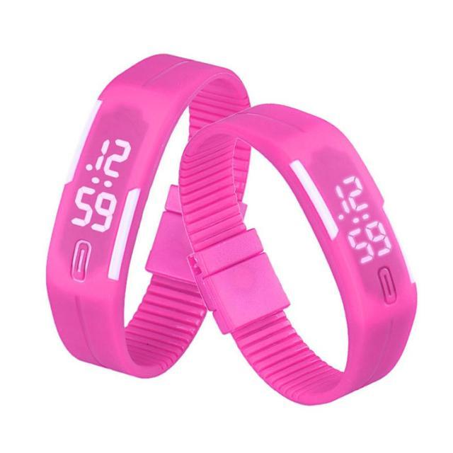 Waterproof White Light Unisex Mens Womens Fashion Rubber LED Date Sports Run Bracelet Simple Digital Wrist Watch xfcs saat clock