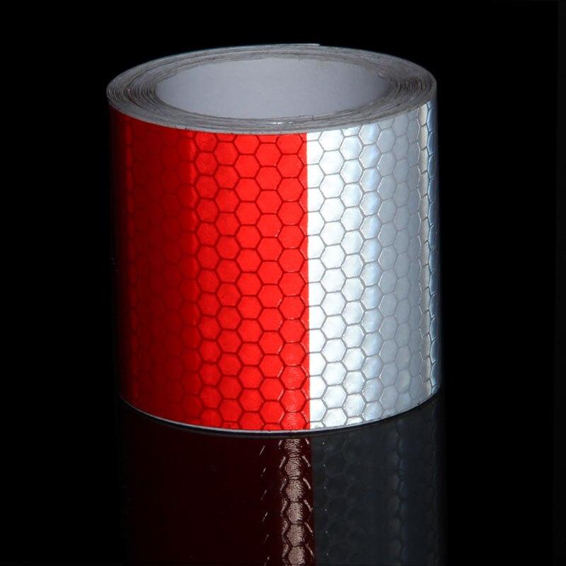 2 x 10 3 м красный, белый лента светоотражающая прицеп отражатель внимание безопасности Предупреждение светоотражающие ленты мотоцикл накле...