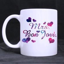 Funny Quotes Mrs. Bon Jovi  Ceramic White Mug Coffee Mug Cup Customized Mug (11 Oz capacity) Customized Mug mug lefard 11 8 5 11 cm white