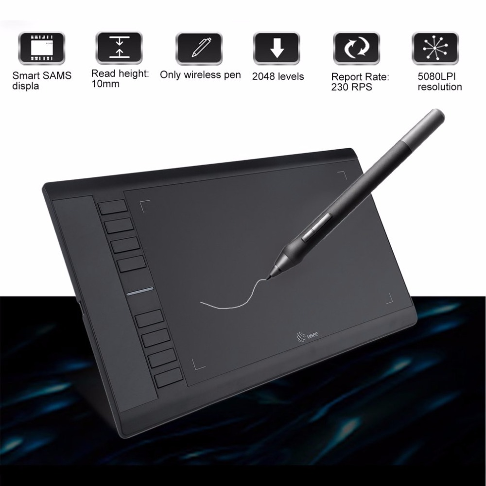 ugee 358mm 210mm drawing tablet digital tablet graphics drawing tablet pad hand writing board. Black Bedroom Furniture Sets. Home Design Ideas