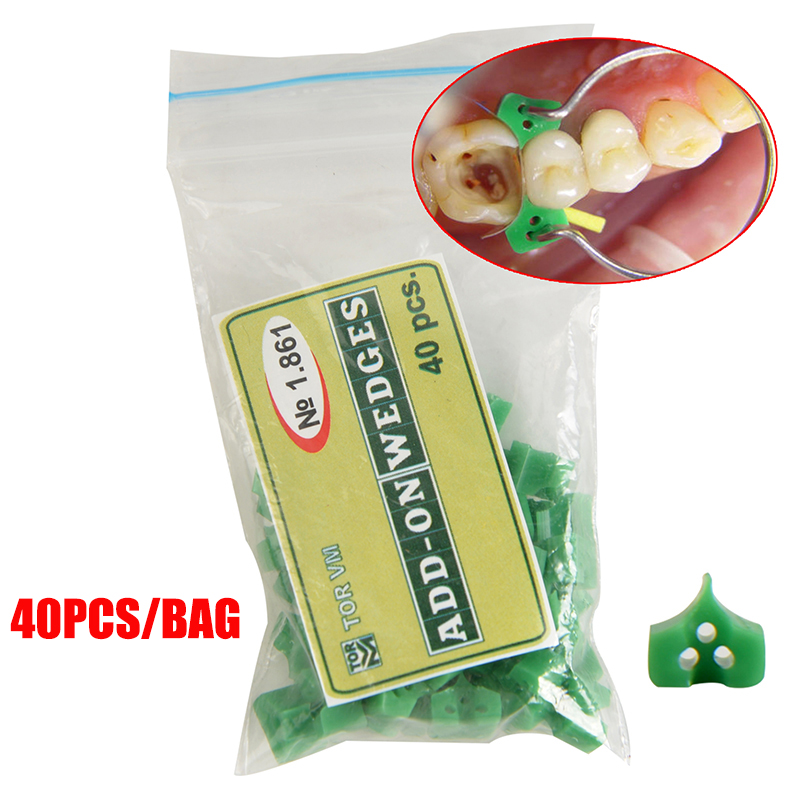40pcs/bag Dental Silicone Add On Wedges Rubber TOR VM No 1.861 Delta Ring Tine Dentistry Lab Material Dentist Tools
