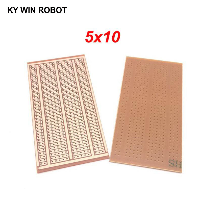 2pcs/lot DIY Prototype Paper PCB Universal Experiment Matrix Circuit Board Two Holes Three Connected Hole Five Holes 5x10CM