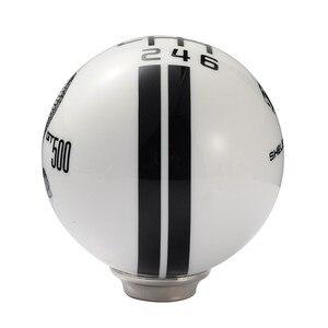 Image 5 - 기어 헤드 6 스피드 기어 시프트 노브 흑백 줄무늬 자동차 변속기 노브 쉬프터 1 pcs