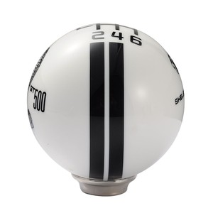 Image 5 - ציוד ראש 6 מהירות Gear Shift Knob שחור ולבן פסים רכב שידור Knob שיפטר 1 Pcs