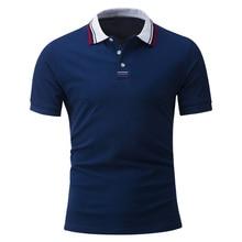 New Fashion 2017 Brand Mens Polo Shirt Solid Short-Sleeve Slim Fit Shirt Male Cotton Polo Shirts Casual Shirts Plus Size