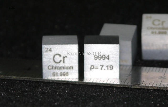 9994 High Purity Chromium Metal Cr 702g Carved Element Periodic