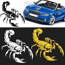 1Pc Car Styling Stickers 3D Cute Scorpion Motorcycle Car Stickers Funny Car Stickers For W VW Audi Ford Toyota CSL2017