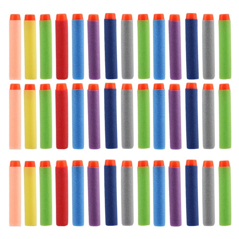 100pcs Colorful Soft Bullet Gun Dart Refills Universal Standard Hard Head Hollow Bullet For Nerf Toy Gun Pneumatic Gun Bullets