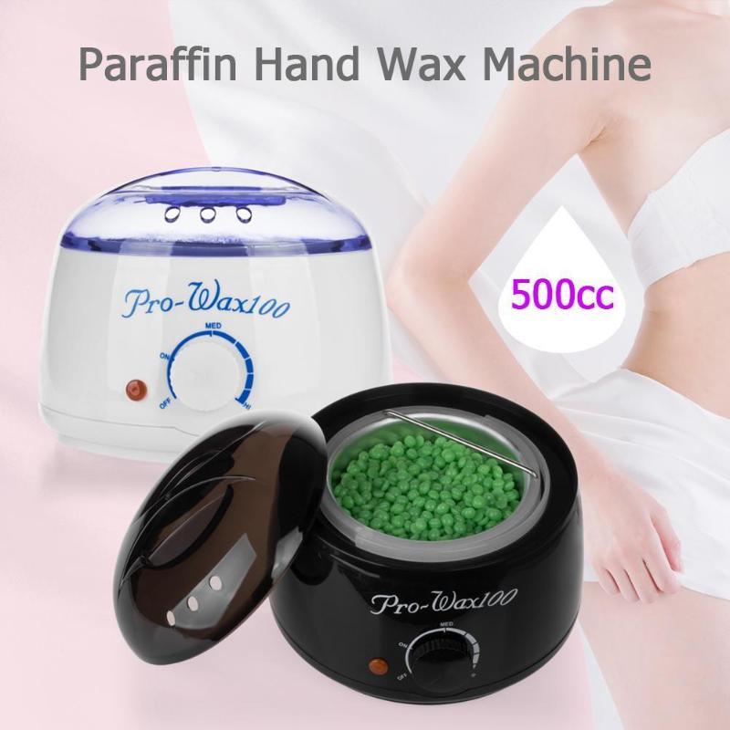 500cc mini mão máquina de cera parafina quente aquecedor de cera corpo depilatório salão de beleza spa ferramenta de remoção do cabelo 500g colorido cera feijão