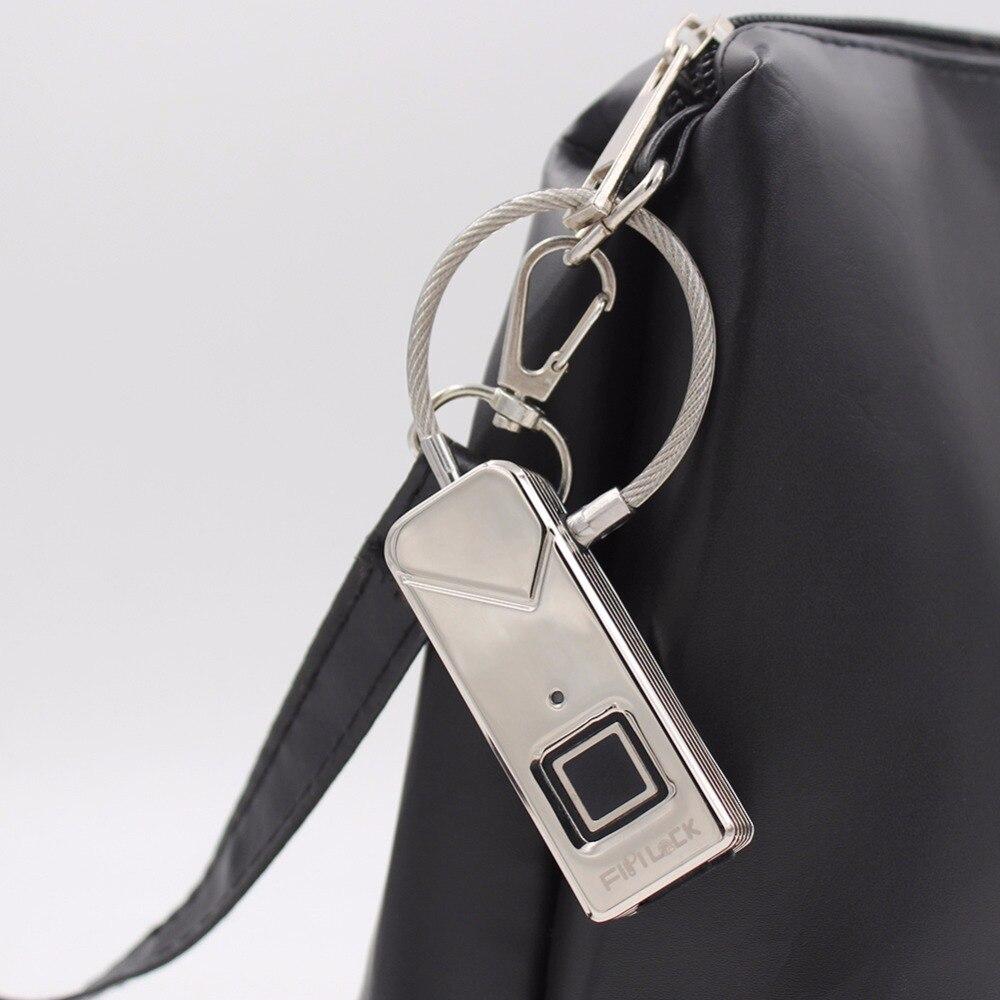 Jiuscan Fingerprint Lock Waterproof Anti Theft Padlock Hi