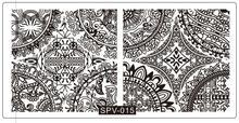SPV15 Konad Stamping Nail Art Manicure Tools-6*12 Stamp Template Arabesque Hollow  Flower Design Image