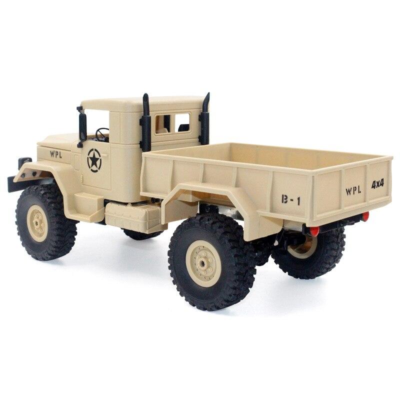 Image 2 - 1/16 пульт дистанционного управления военный грузовик внедорожная Радиоуправляемая машина для скалолазания автомобиль трюк четырехколесный внедорожный военный грузовик детская игрушка-in RC-машины from Игрушки и хобби