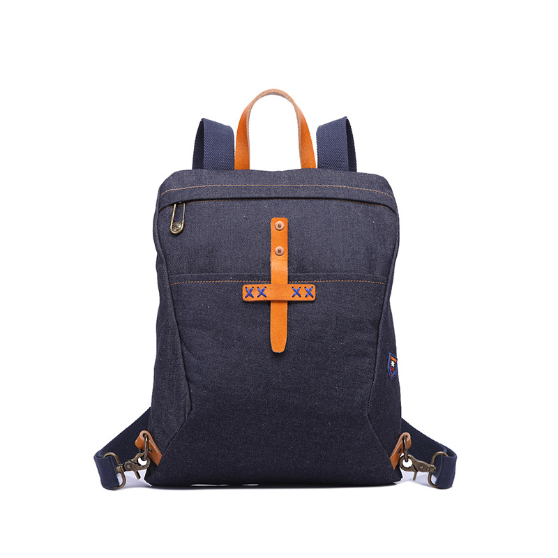 CHARA 39 S brand Vertical square men's backpack outdoor Travel bag denim Portable backpack Unisex mountaineering Backpack in Backpacks from Luggage amp Bags