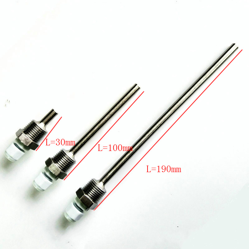Stainless Steel Thermowell 3/4 DN20 NPT Threads for Temperature Sensors Thermowells For Temperature Instruments ThermometerStainless Steel Thermowell 3/4 DN20 NPT Threads for Temperature Sensors Thermowells For Temperature Instruments Thermometer