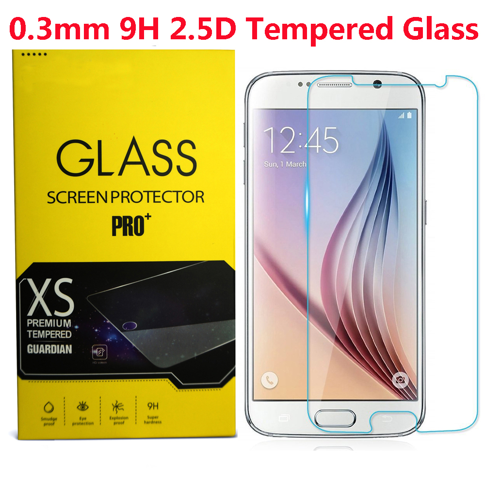 For Samsung Galaxy S7 Phone Tempered glass Guard film 9H 0.3mm Ultra Thin Real Premium Screen Protector Without Retail Package