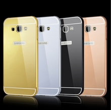 Mirror Aluminum Phone Case Acrylic Back Cover For Samsung Galaxy A3 2015 Anti-knock Luxury Metal Frame For Samsung A300F a3000