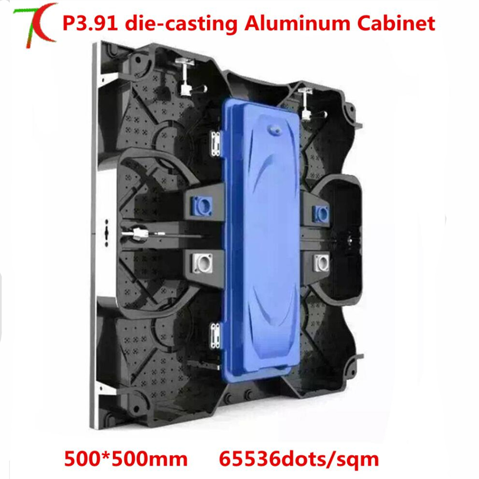 P3.91  500*500mm Indoor Full Color Die-casting Aluminum Equipment Cabinet Led Screen For Rental Business
