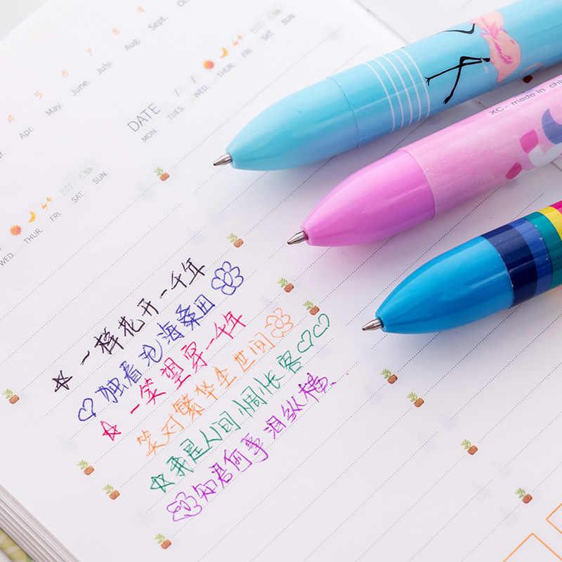 6 PCS Arsmundi น่ารัก Kawaii Multicolor ปากกาลูกลื่นยูนิคอร์น 6 In 1 เครื่องเขียนอุปกรณ์สำนักงานโรงเรียน