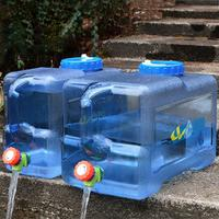 22L Square Large Water Carrier Water Storage Container With Faucet Self Driving Car Big Tank Pro Bucket Outdoor Camping Bottle