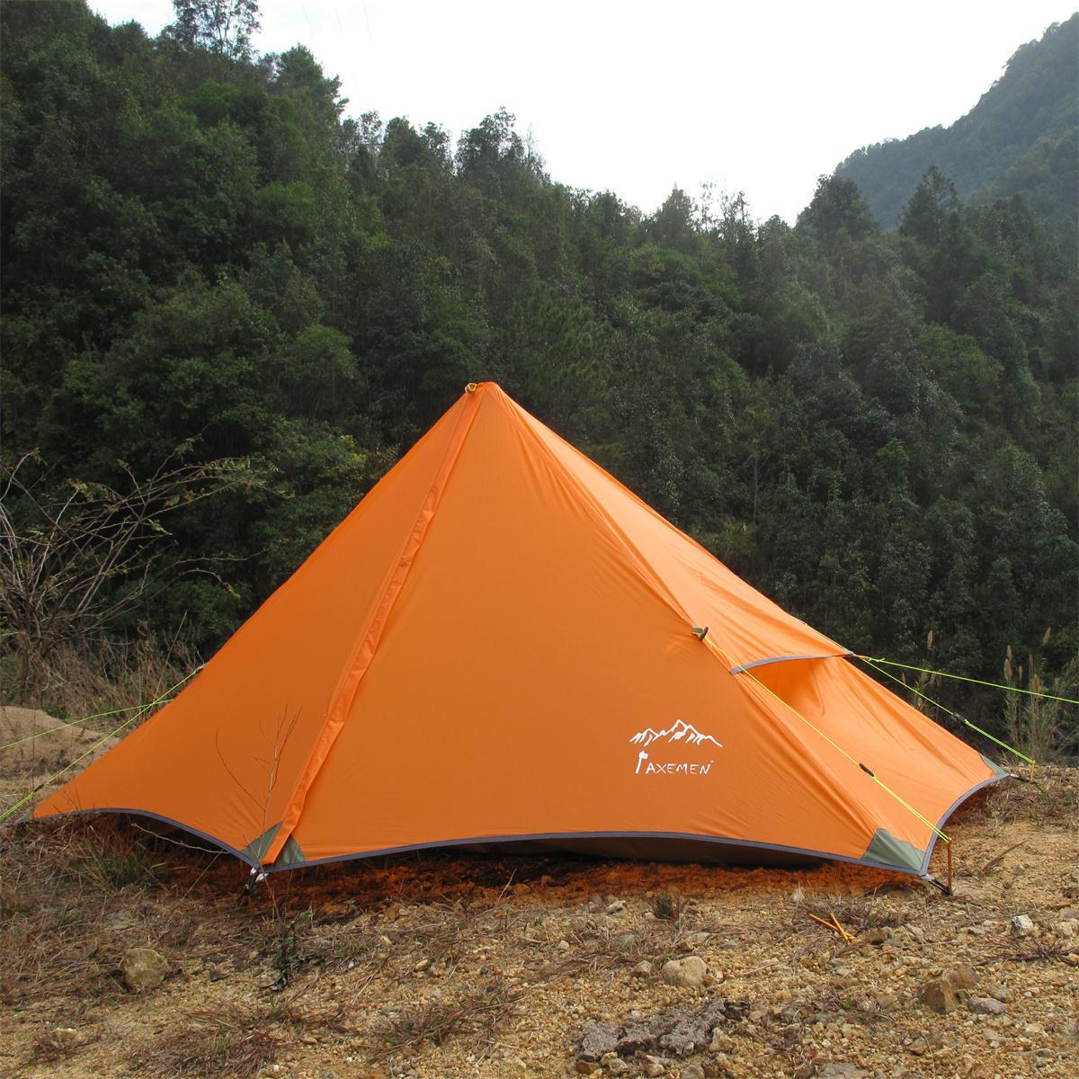 AXEMEN Pyramid super light single rodless mountain tent for three seasons pyramid lcd 1s