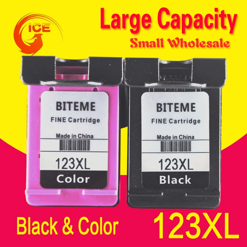 BITEME Russia Belarus Replacment For HP 123 123XL Black Ink Cartridge For HP Deskjet