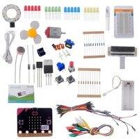 for Micro:bit Starter Kit (with micro:bit board) , Breadboard Adapter, LED, Button, Buzzer, SG 90 Mini Servo for Programming
