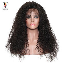 Brazilian Curly Lace Front Human Hair Wigs For Black Women 250% Pre Plucked Full Lace Human Hair Wigs With Baby Hair Remy Venvee